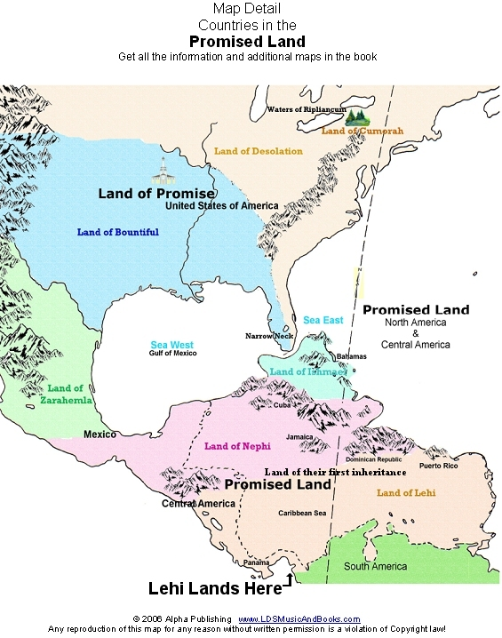 A Promised Land, The Land of Promise (wall map order by mail)